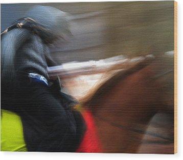 Horserider Wood Print by Colette V Hera  Guggenheim
