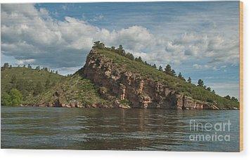 Horsetooth Reservoir View Toward Inlet Bay Wood Print by Harry Strharsky