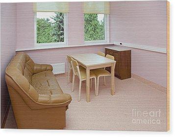 Hospital Waiting Room Wood Print by Jaak Nilson