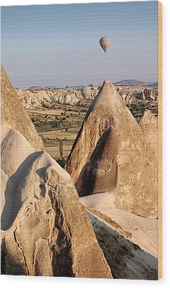 Hot Air Balloons Over Cappadocia Wood Print by RicardMN Photography