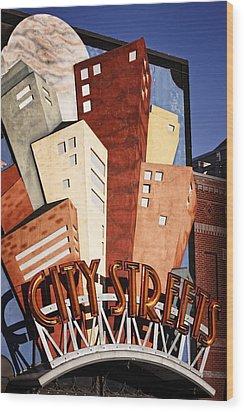 Hot City Streets Wood Print by Joan Carroll