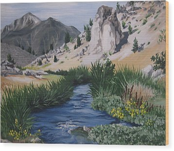 Hot Creek Wood Print