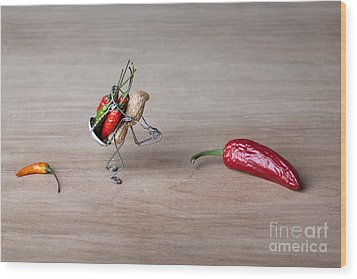 Hot Delivery 01 Wood Print by Nailia Schwarz