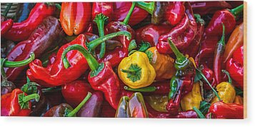 Wood Print featuring the photograph Hot Pepper Time by Ken Stanback