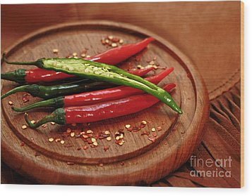Hot Pleasures From Mexico Wood Print by Inspired Nature Photography Fine Art Photography