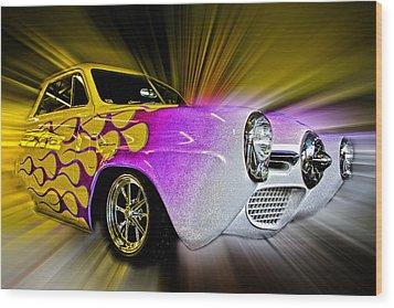 Hot Rod Art Wood Print by Steve McKinzie