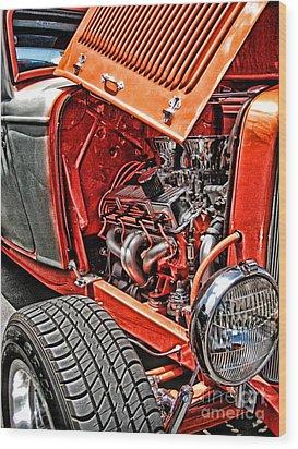 Hot Rod Wood Print by Joe Finney