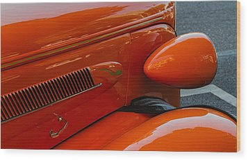 Wood Print featuring the photograph Hot Rod Orange by Ken Stanback