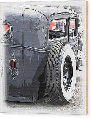 Hot Rods Forever Wood Print by Steve McKinzie