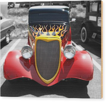 Wood Print featuring the photograph Hot Wheels   by Raymond Earley