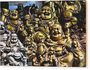 Wood Print featuring the photograph Hotei Gathering by Edward Myers