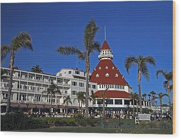 Hotel Del Coronado  Wood Print by Jonathan Whichard