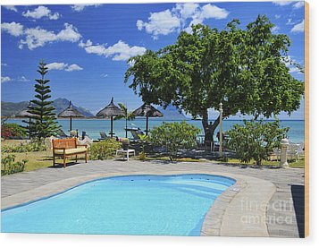 Hotel Dream - Mauritius Wood Print by JH Photo Service
