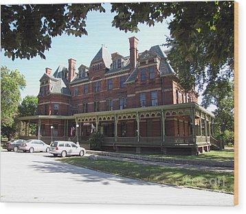Hotel Florence Chicago Illinois Wood Print by Cedric Hampton