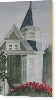 House In San Francisco Wood Print