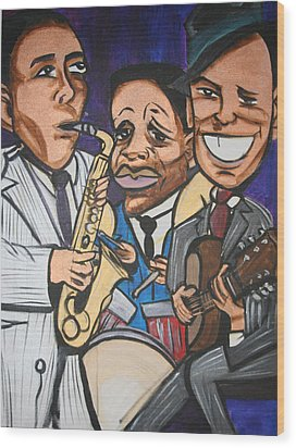House Of Blues Wood Print by Christopher Holtwick