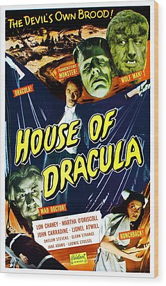 House Of Dracula, Top From Left Glenn Wood Print by Everett