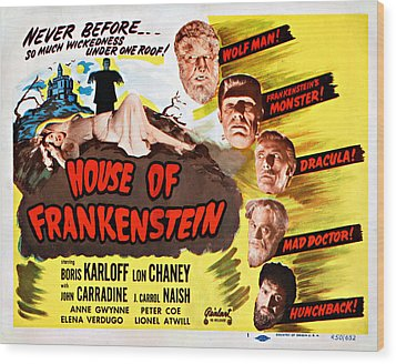 House Of Frankenstein, 1950 Re-issue Wood Print by Everett