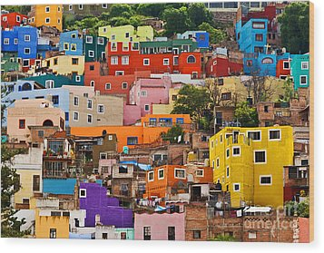 Wood Print featuring the photograph House Of Guanajuato - Mexico by Craig Lovell