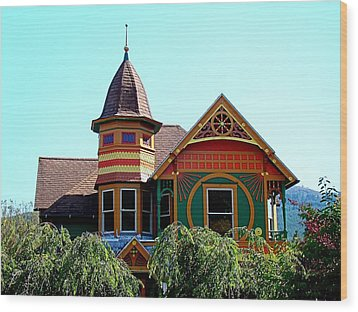 House Of Many Colors Wood Print by Nick Kloepping