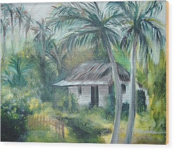 House Of Palms Wood Print by Beth Dolan