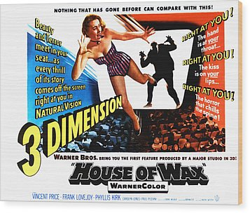 House Of Wax, 1953 Wood Print by Everett