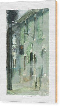 House On Barton Street Wood Print by Bob Salo