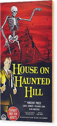 House On Haunted Hill, Bottom Left Wood Print by Everett