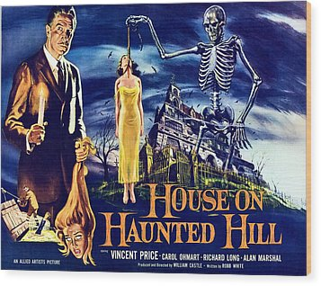 House On Haunted Hill, Left Vincent Wood Print by Everett