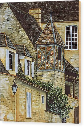 Houses In Sarlat Wood Print