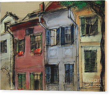 Houses In Transylvania 1 Wood Print by Mona Edulesco