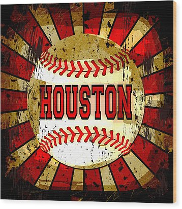 Houston Wood Print by David G Paul