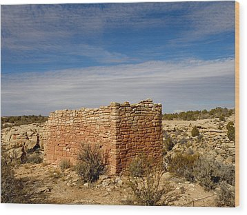 Hovenweep's Twin Towers Wood Print by Feva  Fotos