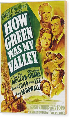 How Green Was My Valley, Donald Crisp Wood Print by Everett
