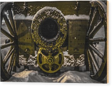 Wood Print featuring the photograph Howitzer by Matti Ollikainen
