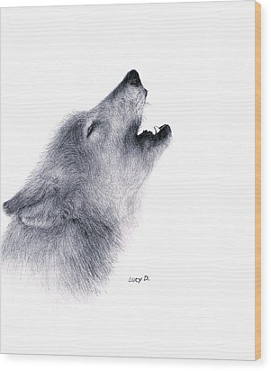 Howl Wood Print by Lucy D