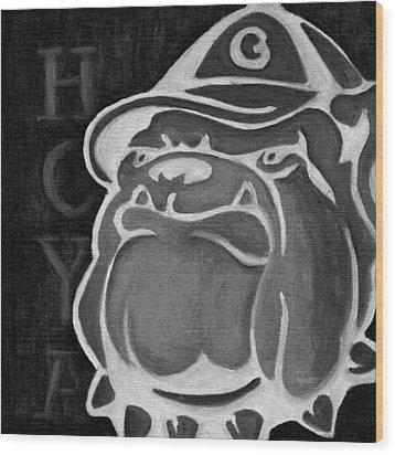 Hoya Jackbw2 Wood Print by Leslie Rock