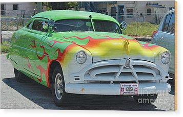Hudson Low Rider Roadster Wood Print by Rene Triay Photography