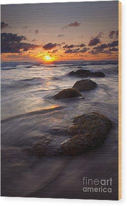 Hug Point Tides Wood Print by Mike  Dawson