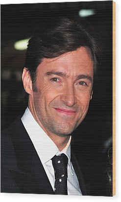 Hugh Jackman At Arrivals For Worldwide Wood Print by Everett
