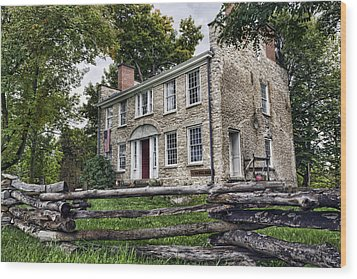 Hull House 1810 Wood Print by Peter Chilelli