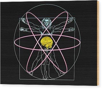 Human Intelligence Wood Print by Laguna Design