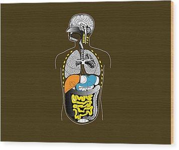 Human Internal Organs, Artwork Wood Print by Francis Leroy, Biocosmos