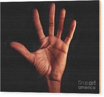 Humane Touch Wood Print by AHcreatrix