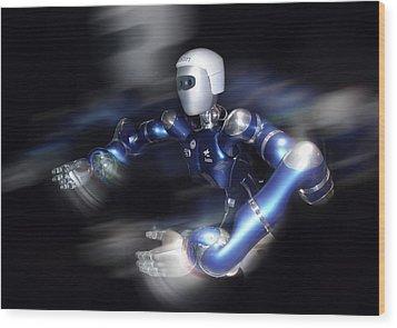 Humanoid Robot, Artwork Wood Print by Detlev Van Ravenswaay