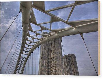 Humber Bay Bridge Wood Print