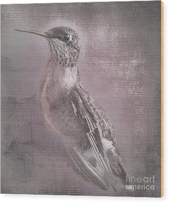 Hummer Portrait Wood Print