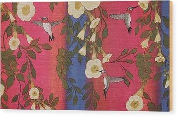 Hummingbird Picnic Wood Print