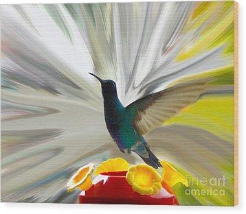 Hummingbird Series Vii Wood Print by Al Bourassa
