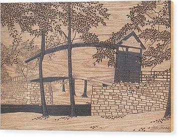 Humpback Covered Bridge Wood Print by Stan Shirk